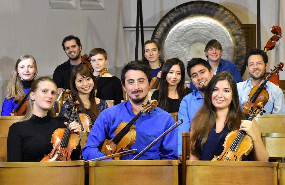 Das Kammerensemble Konsonanz mit ihren Instrumenten