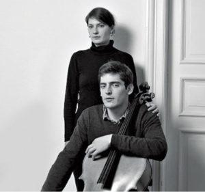 Das Geschwister-Paar Arthur Hornig (Cello) und Klara Hornig (Klavier)